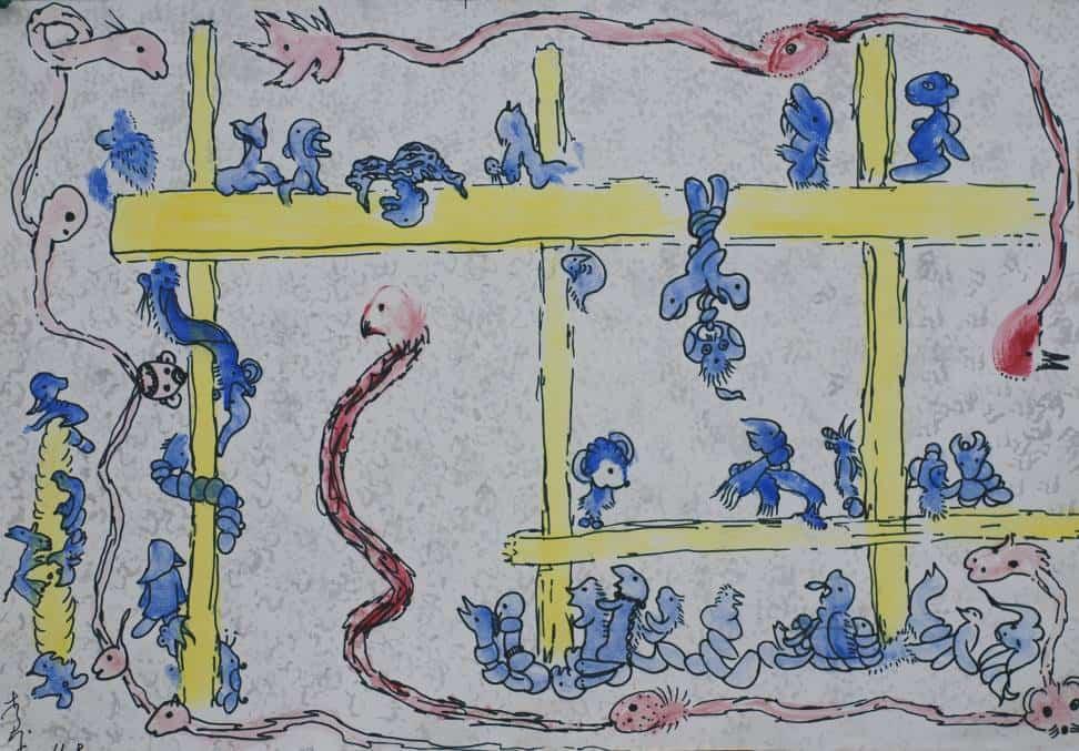 Li Ben (b. 1963, male, Nanjing): Untitled, water color on paper, 54x38cm