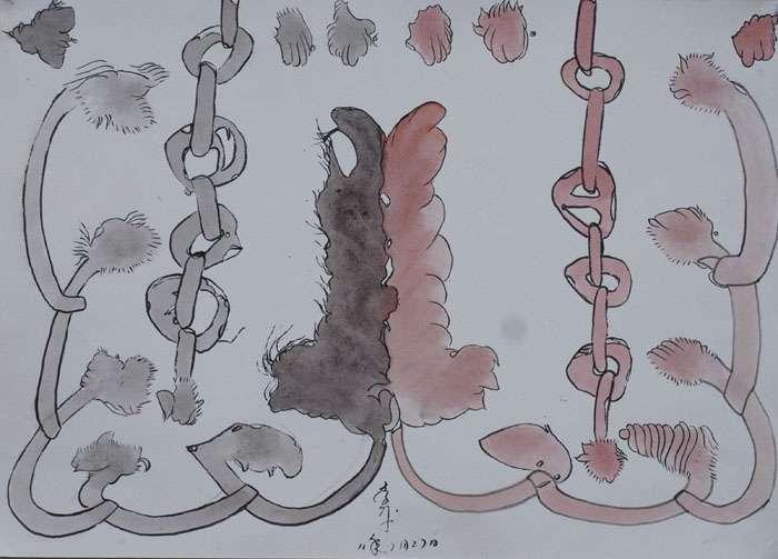 Li Ben : Untitled 2, water color on paper, 54x38cm