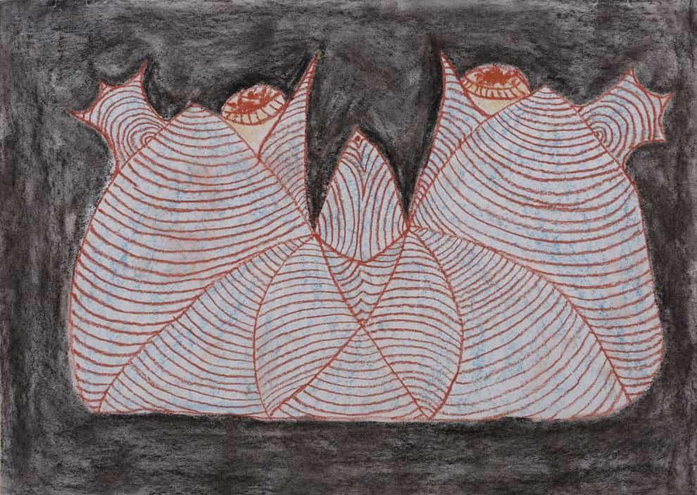 Yang Min: Mountain, charcoal stick on paper, 53x38cm